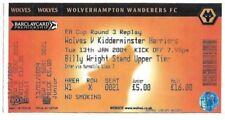 Wolverhampton Wanderers Football FA Cup Fixture Tickets & Stubs