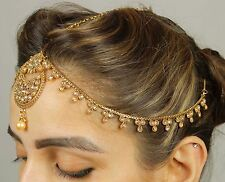 53 Indian Kundan Matha Patti Maang Tikka Bridal Gold Plated Hair & Head Jewelry
