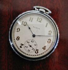 Pocket Watch 12S, 17J, Black Enamel L@K! Antique Art Deco 1918 Elgin Grade 345