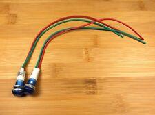 2 BBT 12 volt Waterproof Blue LED Low-Profile Indicator Lights