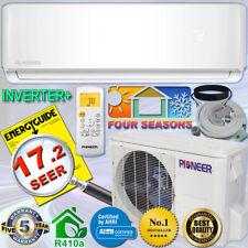 Pioneer 12000 Btu 17.2 Seer Dc Inverter+ Mini Split Heat Pump Set 120V +10' Kit