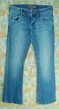 """Washed Faded STRETCHY Mid Rise FLARE Leg MUDD 5 Pocket JEANS! 7 Long 33"""" Inseam"""