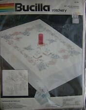 """BUCILLA Cross Stitch ~ BUTTERFLY NAPKINS ~ SET OF FOUR ~ 16"""" ~ AWESOME!"""