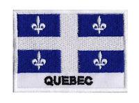 Ecusson patche patch drapeau QUEBEC 70 x 45 mm Etats Canada à coudre