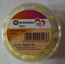 50 Mini SCHLEIFEN Satin In hellgelb Ca 2 5cm breit Von Jittenmeier
