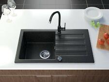 Spüle Becken NIAGARA 30 Granit Einbauspüle 78x43 Beige Armatur SET BORA BORA