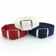 USA 3 Pack Perlon Braided Woven Watch Strap/Band With Steel Buckle 20mm