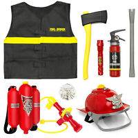 Best Choice Products 10-Piece Pretend Toy Firefighter Playset