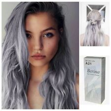 GRAY PUNK  A21 BERINA HAIR CREAM SEMI-PERMANENT HAIR DYE COLOR LIGHT UNISEX