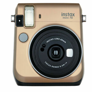 Fujifilm Instax Mini 70 Instant Camera including film. Stardust Gold GREAT DEAL