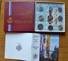 CONFEZIONE REPUBBLICA SAN MARINO SERIE 9 MONETE IN LIRE ANNO 1985 FDC SUBALPINA
