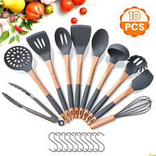 Godmorn Kitchen Utensil Sets with Hooks, 10 Pcs Silicone Cooking Utensils Sets,