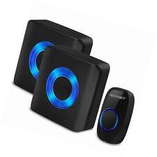 TeckNet 52 Chimes Wireless Doorbell Twin Wall Plug-in Cordless Door Chime 300m