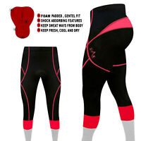 Ladies Women Cycling  3/4 Tights Trousers Leggings Padded Cycle S to XXL