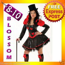 8237 Queen of Heart Alice Gothic Fancy Costume S/M 8/10