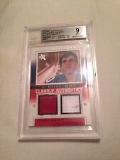 Eli Manning 2004 Clearly Authentics Fleer Jersey Rookie 42/44 BGS GRADED 9 POP 1