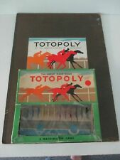 VINTAGE WADDINGTONS TOTOPOLY, METAL HORSES ~ EXCELLENT ~ SEPARATE BOX AND BOARD