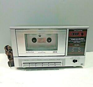 Realistic SCT-34 Stereo Cassette Tape Deck Player Recorder Vintage Walnut Grain