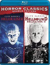 Horror Double Feature (Hellraiser / Hellbound: Hellraiser 2) [Blu-ray] New DVD!