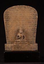 Buddha Statue - Antik Stein Stele Thai Teaching 49cm/50.8cm