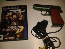 Playstation 2 * SCORPION GUN CONTROLLER with Time Crisis 3 * PS2 AND SATURN *
