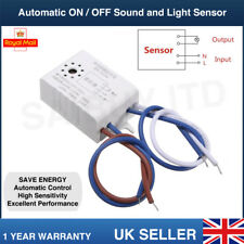 Automatic ON OFF Sound Light Sensor Switch Control AC 220V Voice Automated Home