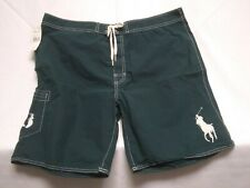 Polo Ralph Lauren Men's Swim Shorts Size 38 Big Pony Bathing Suit Weather Green