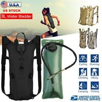 3L Tactical Hydration Backpack Bladder Water Bag Hunting Climbing Hiking Running