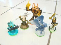 Skylanders Spyro's Adventure lot of 5 Swarm, Whirlwind, Chop Chop Gill Grunt +