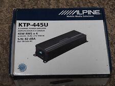 Unused ALPINE KTP-445U CAR AMPLIFIER - 4 Channel - 45W