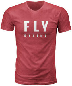 Fly Racing 2020 Logo Tee Adult Cardinal Red T-Shirt All Sizes