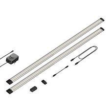 LED Unterbau-Leuchte Siris, Infrarot-Sensor, flach, je 90cm, 800lm, warm-weiß, 2