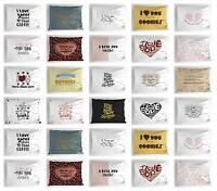 I Love You More Pillow Sham Decorative Pillowcase 3 Sizes for Bedroom