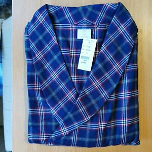 Brooks Brothers Men's All Cotton Traditional Fit Checked Robe / Gown Medium