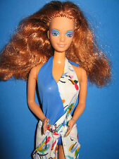 B211-pelirroja barbie Midge mattel 80er bañador + utilízalo playa rock Label