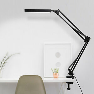 Adjustable Long Arm USB Desk Lamp Bed Reading Led Light Table Clip-on Clamp