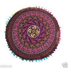 Indian Mandala Print Round Sofe Pillow Cases Bohemian Throw Waist Cushion Cover R#