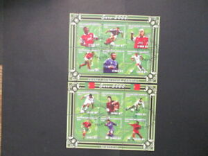 2001 Mozambique S#1421-22 Euro 2000 football s/s set of 2 used ccld NH OG