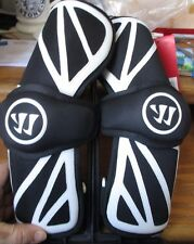 Lacrosse Arm Pads, Warrior Regulator Lite, Large Black with white outline Nip