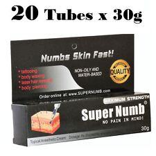 20 X 30g Super Numb skin numbing cream painless piercings waxing laser sex Dr