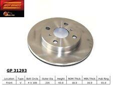 Disc Brake Rotor-Rear Drum Front Best Brake GP31293