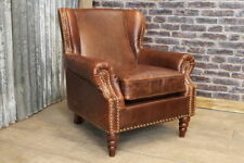Leather Art Moderne Antique Armchairs