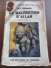 Sax Rohmer: La Malédiction d'Allah/ Les Editions de France