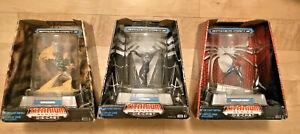 Spiderman & Venom & Sandman TITANIUM Series Die Cast Metal w/ Display Cases W@W