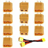 5 Pairs - 10Pcs XT60 Male Female Bullet Connectors Plugs For RC Lipo Battery UK