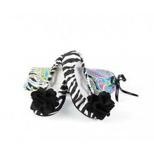 Mud Pie Black Zebra Ballet Slipper Shoes Slip On Size Small 5-6