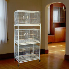 """Lot of 3 Large Bird Flight Breeding Cages 30x18x18""""H With Divider With Stand"""