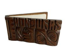 Honduras Wooden Notepad Notebook Latin Folk Art Central America Paper Carved