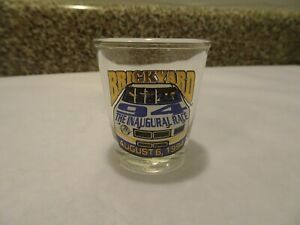 NASCAR Winston Cup Shot Glass Indianapolis Brickyard 94 Inaugural race August 6