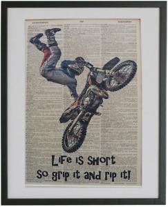 Motocross Wall Print No.189, dictionary prints, dirt bike posters